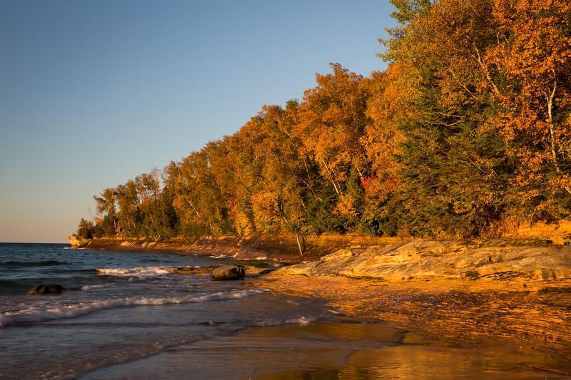 Miners Beach lakeshore. Picture Rocks National Lakeshore, MI<br /> <br /> MI-120929-0202