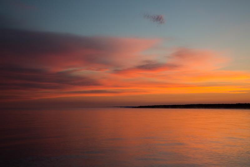 Sunrise along the shores of Lake Superior. Silver City, MI<br /> <br /> MI-120928-0011