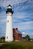 Au Sable Point Lighthouse in summer. Grand Marais, MI<br /> <br /> MI-090622-0150