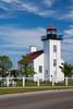 Street view of Sand Point Lighthouse. Escanaba, MI<br /> <br /> MI-090621-0033-1