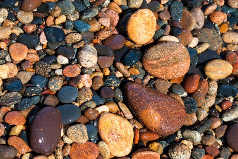 Lake Superior shore rocks. Paradise, MI<br /> <br /> MI-110706-0115