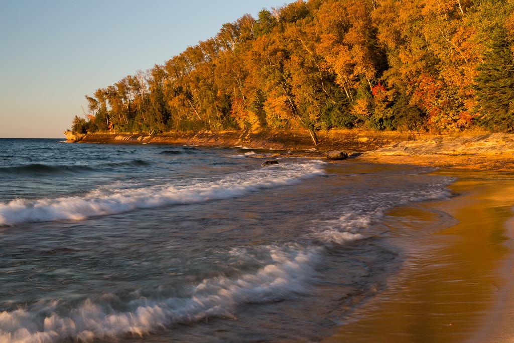 Miners Beach lakeshore. Picture Rocks National Lakeshore, MI<br /> <br /> MI-120929-0206