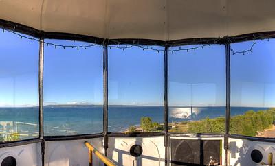 Point Iroquois Lighthouse Lantern Room