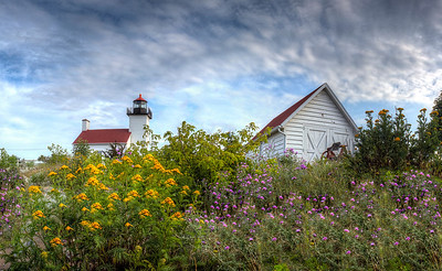 Summer Flowers at the Escanaba Light