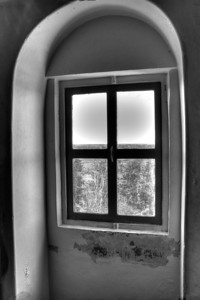 Window at Point Iroquois Lighthouse