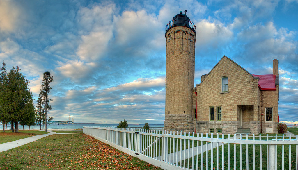 Old Mackinac Lighthouse in Fall