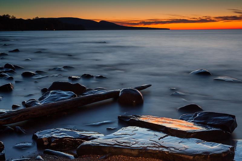 Sunset Lake Superior