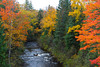 A small stream with fall foliage color in the Upper Peninsula of Michigan, USA.