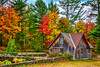 An Old Mill with fall foliage color on highway 28 near Au Train, Michigan, USA.