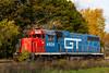 A locomotive train engine at Newberry, Michigan, USA.