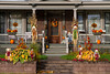 A Bed and Breakfast mansion with fall decor in Newberry, Michigan, USA.