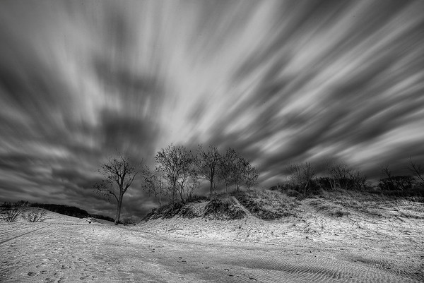 Clouds in Motion (BW)