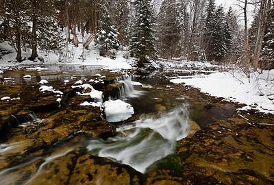 Winter Waters - Lower Au Train Falls (Au Train, MI)