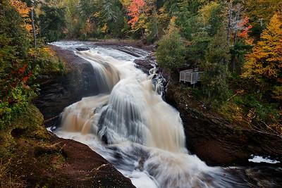 Chromatic Cascade - Rainbow Falls (Black River Scenic Byway - Ottawa National Forest)