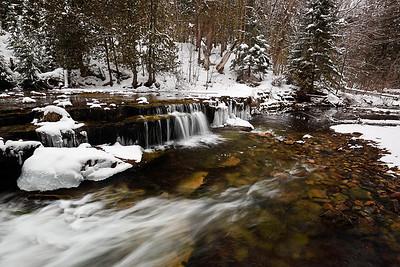 Winter Waters II - Lower Au Train Falls (Au Train, MI)