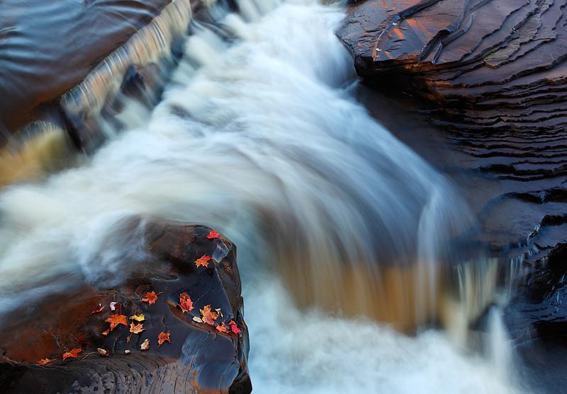 Y Fall - Bonanza Falls (Big Iron River - Upper Michigan)