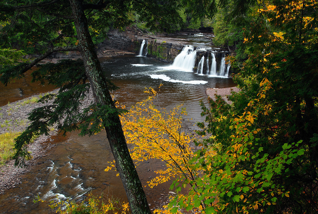 Fishing For Fall - Manabezho Falls (Porcupine Mountains State Park)