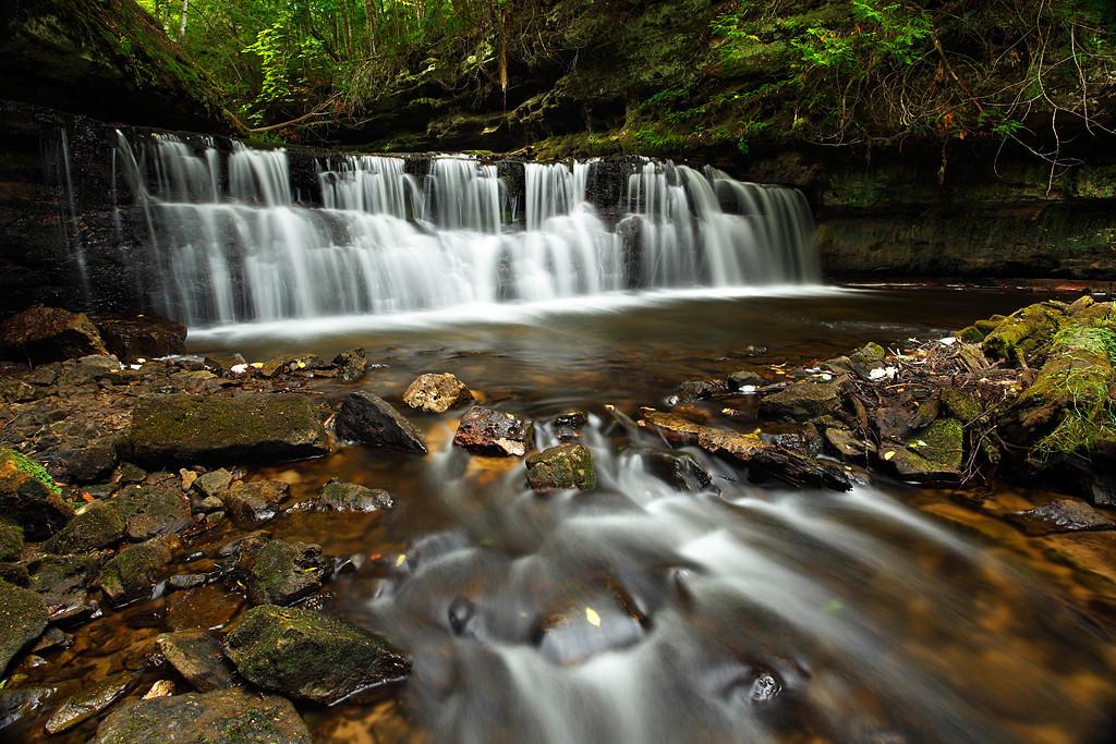 Enveloped - Mosquito Falls (Picture Rocks National Lakeshore - Upper Michigan)