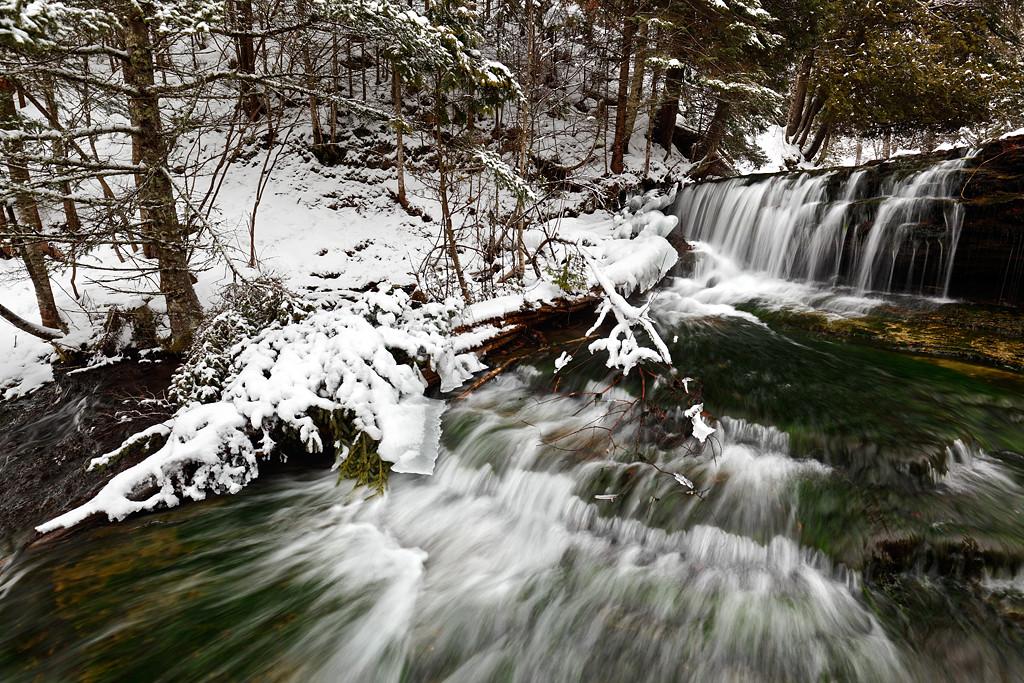Winter - Au Train Falls (Au Train, MI)