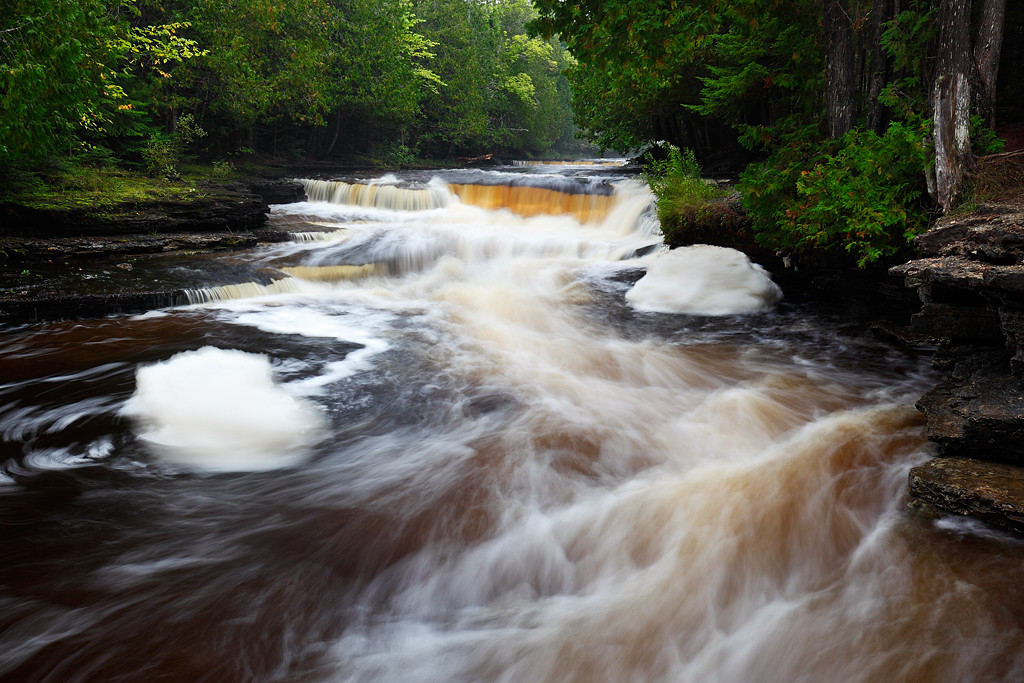 Summer Currents - Whitefish Falls (Alger County - Upper Michigan)