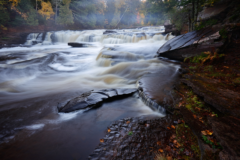 Outstretched Deluge - Manido Falls (Porcupine Mountains - Upper Michigan)