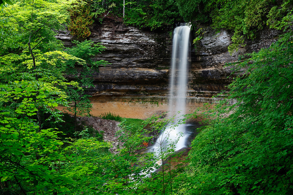Summers Falling - Munising Falls (Pictured Rocks National Lakeshore)