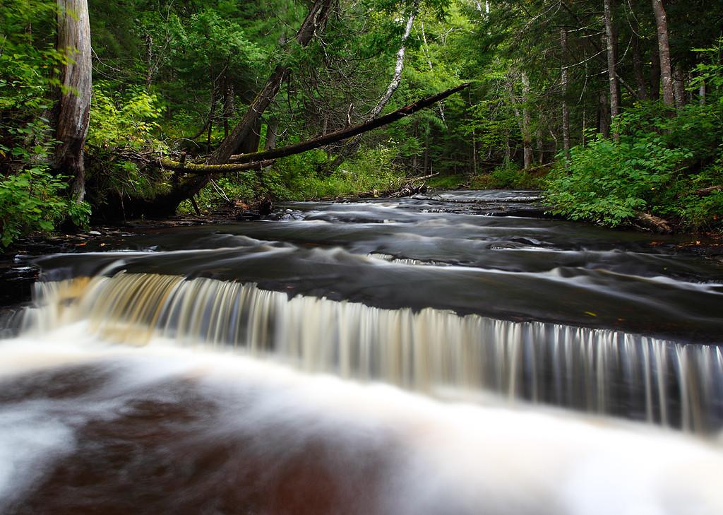 Over the Ledge - Haymeadow Falls (Hiawatha National Forest - Upper Michigan)
