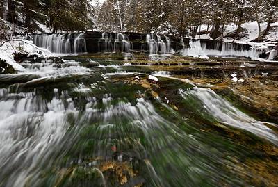 Winter Cascades - Au Train Falls (Au Train, MI)