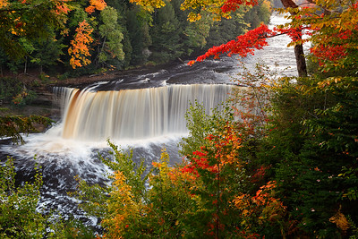Framed By Fall - Tahquamenon Falls (Tahquamenon Falls State Park - Upper Michigan)