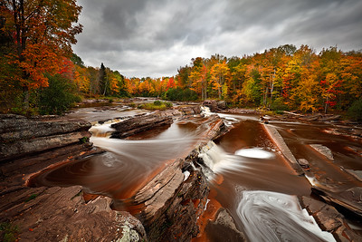 Fulgent Fall - Bonanza Falls (Big Iron River - Upper Michigan)
