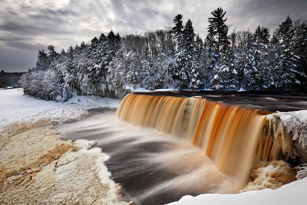 Winter Tannins - Tahquamenon Falls (Tahquamenon Falls State Park - Upper Michigan)