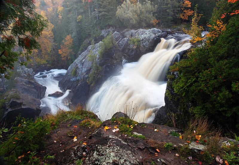 Falling Above - Gabbro Falls (Black River - Upper Michigan)