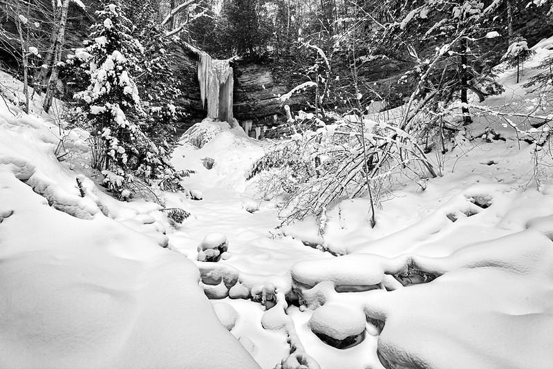 Silver Snow - Munising Falls (Pictured Rocks National Lakeshore)