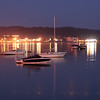 Boats before dawn, west bay Traverse city