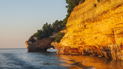 Pictured Rocks on Lake Superior