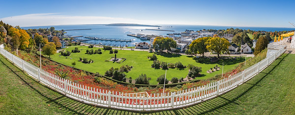 Marquette Park from Fort Mackinac
