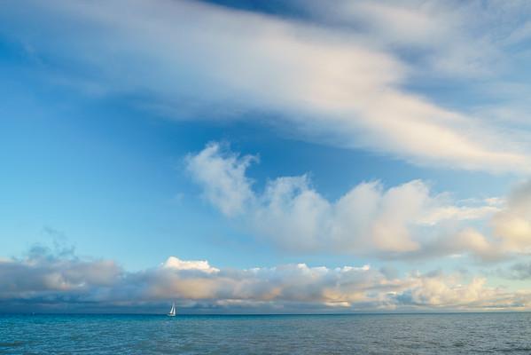 Sailing on Lake Michigan / Frankfort, Michigan