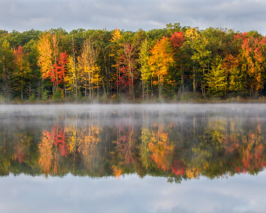Misty Autumn Reflections