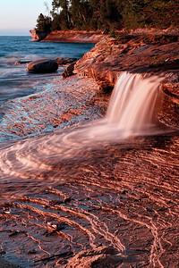 Miner's Beach Waterfall