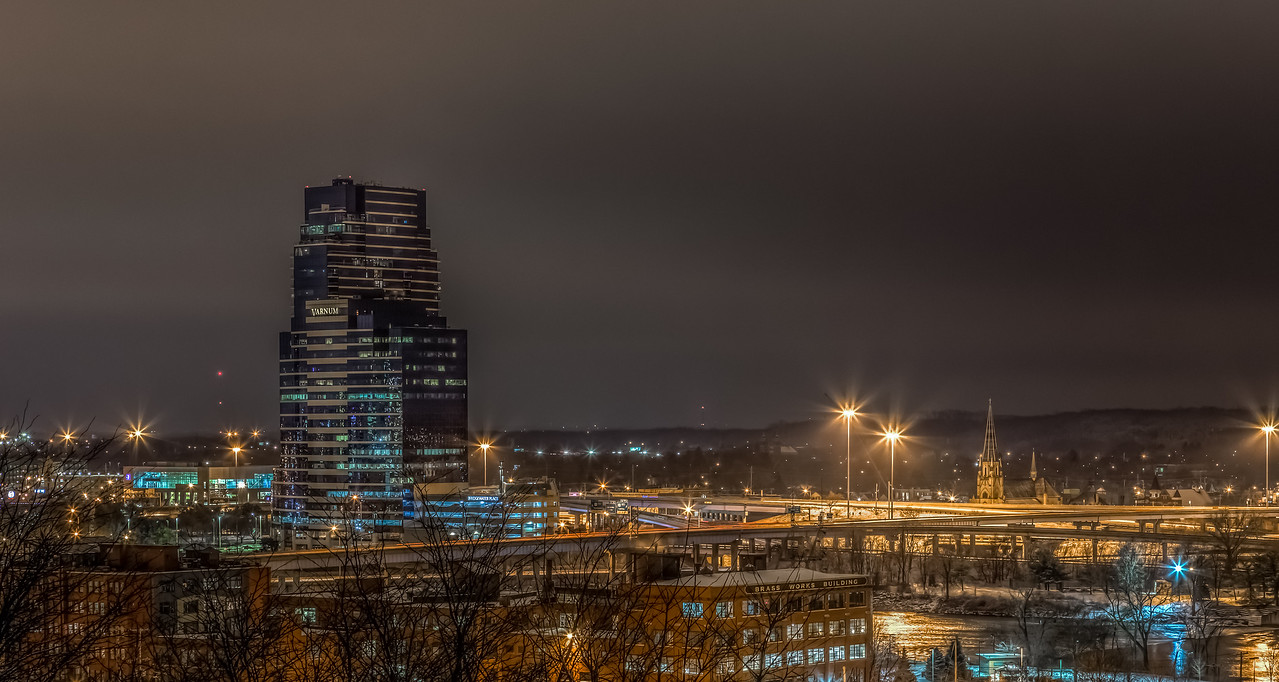 Overlooking Grand Rapids at night.