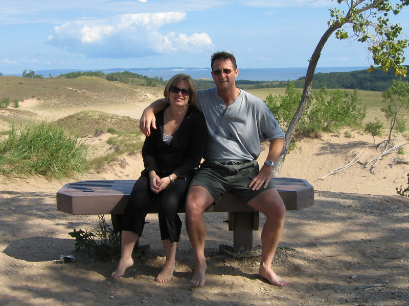 Cheri and Me, Sleeping Bear Dunes, near Traverse City