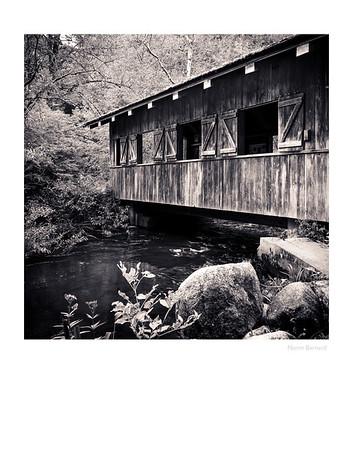Covered Bridge B&W