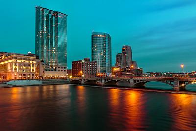 Grand River at downtown Grand Rapids