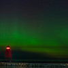 Aurora at Charlevoix, MI S Pier Head Lighthouse , September 2, 2016_GJW4128