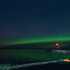 Aurora at Charlevoix, MI S Pier Head Lighthouse , September 2, 2016_BAW0912