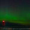 Aurora at Charlevoix, MI S Pier Head Lighthouse , September 2, 2016_GJW4128