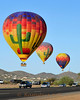 Assent of balloons near Cave Creek Arizona.