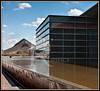 Infinity reflective pool faces the Tempe Town Lake.