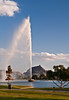 The Fountain in the city of Fountain Hills AZ.<br /> Taken at near sunset and the last display of the evening.