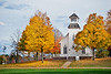 Church with fall colors, Charlton Park, Hastings Micigan.